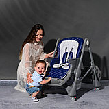Стульчик для кормления Lorelli  CAMPANELLA  Синий / SEA Blue CROWNS 2095, фото 4