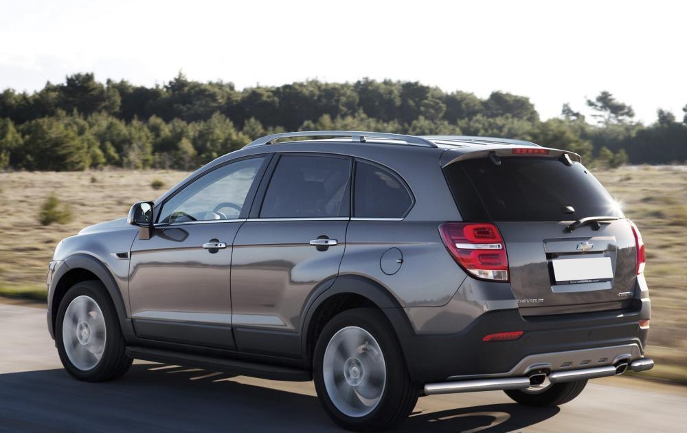 """Пороги """"Premium-Black"""" Chevrolet Captiva (2011-2013-2015), Opel Antara (2010-2015)"""