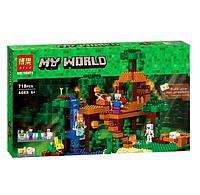Конструктор LARI Minecraft Шахта крипера 11363 (Аналог LEGO Minecraft 21155) 852 дет.