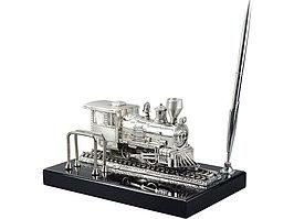 Настольный прибор Железнодорожный, серебристый/черный (артикул 61280)