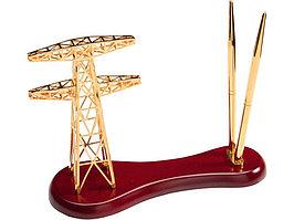 Настольный прибор Энергия, золотистый/красное дерево (артикул 616729)