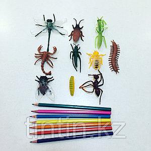 Набор из 10 резиновых насекомых