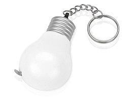 Брелок-рулетка для ключей Лампочка, белый/серебристый (артикул 709526)