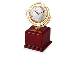 Часы Disk, коричневый/золотистый (артикул 122505)
