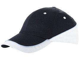 Бейсболка Draw 6-ти панельная, темно-синий/белый (артикул 19548229)