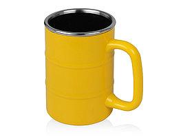Кружка Баррель 400мл, желтый (артикул 821504)
