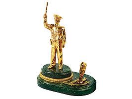 Настольный прибор Инспектор, золотистый/зеленый (артикул 61715)