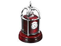 Часы настольные Султан, красное дерево/серебристый (артикул 125339)