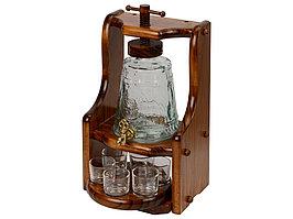 Графин и шесть стаканов в деревянной подставке Царь-Колокол (артикул 68251)