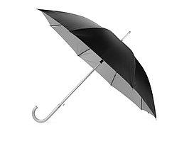 Зонт-трость полуавтомат Майорка, черный/серебристый (артикул 673010.02)