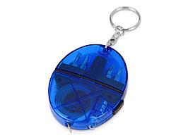 Брелок-рулетка с набором отверток и фонариком, синий (артикул 499502)