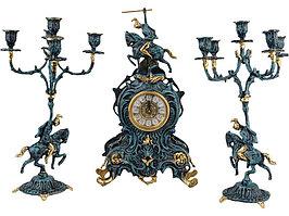 Композиция: интерьерные часы с подсвечниками Победитель (артикул 51301)