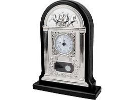Часы настольные Александр Македонский, серебристый/черный (артикул 15810)