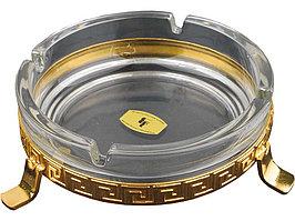 Пепельница, прозрачный/золотистый (артикул 52560)