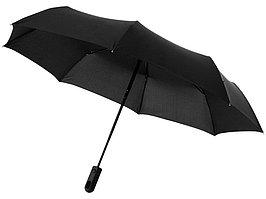 Зонт Traveler автоматический 21,5, черный (артикул 10906400)