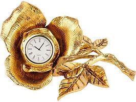 Часы настольные Роза, золотистый (артикул 11301)