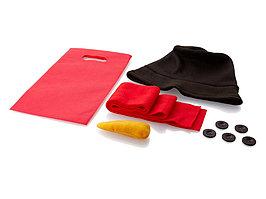 Набор аксессуаров для снеговика: шапка, шарф, морковка, пуговицы (артикул 11249700)