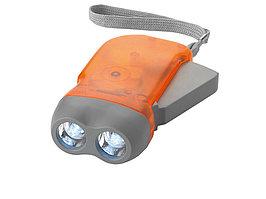 Фонарь Virgo с механической подзарядкой, оранжевый (артикул 10403402)