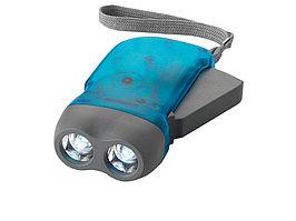 Фонарь Virgo с механической подзарядкой, синий (артикул 10403401)