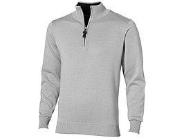 Пуловер Set с застежкой на четверть длины, серый/черный (артикул 3322990M)