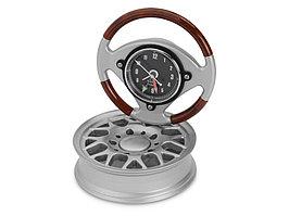 Часы настольные Колесо, серебристый (артикул 104400)