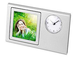 Часы Шербург, серебристый (артикул 125640)