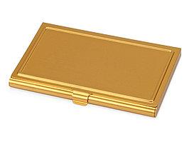 Визитница Lexx, золотистый матовый (артикул 726945)