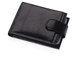 Футляр для 40 визиток, кредитных или дисконтных карт, черный (артикул 559787)
