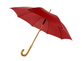 Зонт-трость полуавтоматический с деревянной ручкой (артикул 906101)