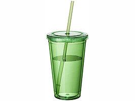 Термостакан с соломинкой Cyclone, зеленый (артикул 10023403)