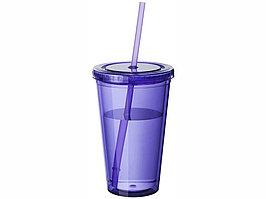 Термостакан с соломинкой Cyclone, пурпурный (артикул 10023407)