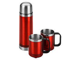 Набор Походный: термос, 2 кружки, красный (Р) (артикул 828431p)