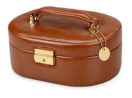 Шкатулка для драгоценностей с дорожным футляром, коричневый (артикул 511418p)