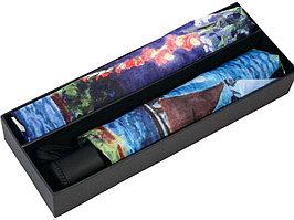 Набор: платок, складной зонт Моне. Сад в Сент-Андрес, голубой (артикул 905906)
