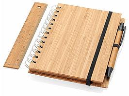 Канцелярский набор Franklin из бамбука, натуральный (артикул 10634300)