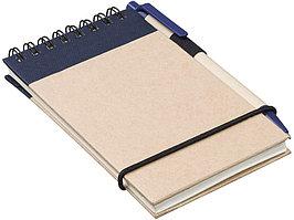 Блокнот А7 Zuse с ручкой шариковой, синий (артикул 10626902)