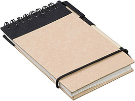 Блокнот А7 Zuse с ручкой шариковой, черный (артикул 10626901)