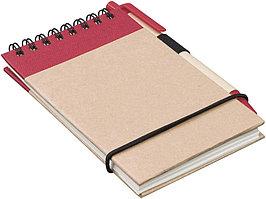 Блокнот А7 Zuse с ручкой шариковой, красный (артикул 10626900)