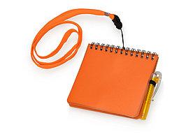 Блокнот А6 Журналист с ручкой, оранжевый (артикул 789408)