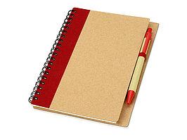 Блокнот Priestly с ручкой, красный (артикул 10626800)