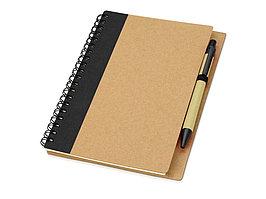 Блокнот Priestly с ручкой, черный (артикул 10626801)