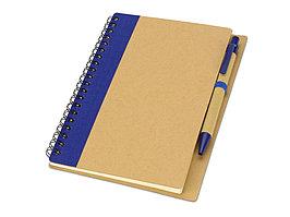 Блокнот Priestly с ручкой, синий (артикул 10626802)