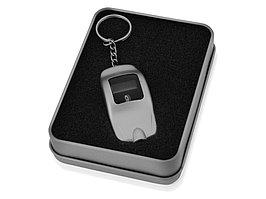 Брелок-измеритель давления в шинах в форме автомобиля, серебристый (артикул 713000)