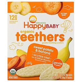 Органические галеты HappyBaby Банан Батат