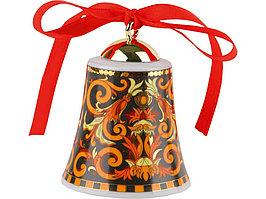Новогодний колокольчик Versace Barocco, оранжевый/черный/золотистый (артикул 50554)