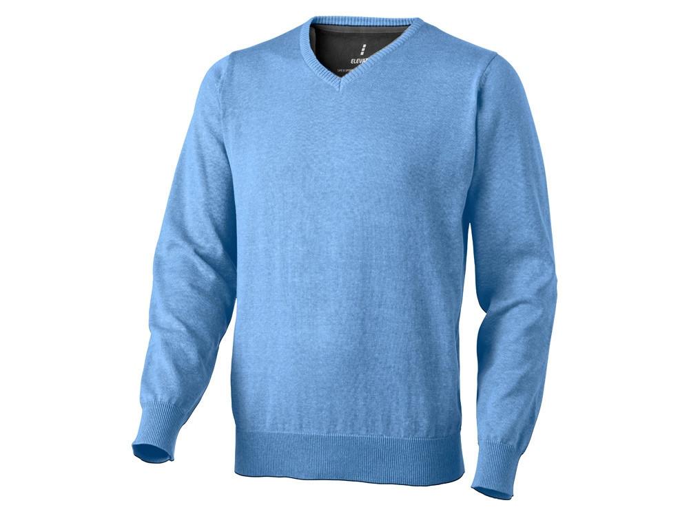 Пуловер Spruce мужской с V-образным вырезом, светло-синий (артикул 38217402XL)