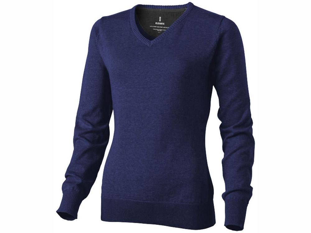Пуловер Spruce женский с V-образным вырезом, темно-синий (артикул 38218492XL)