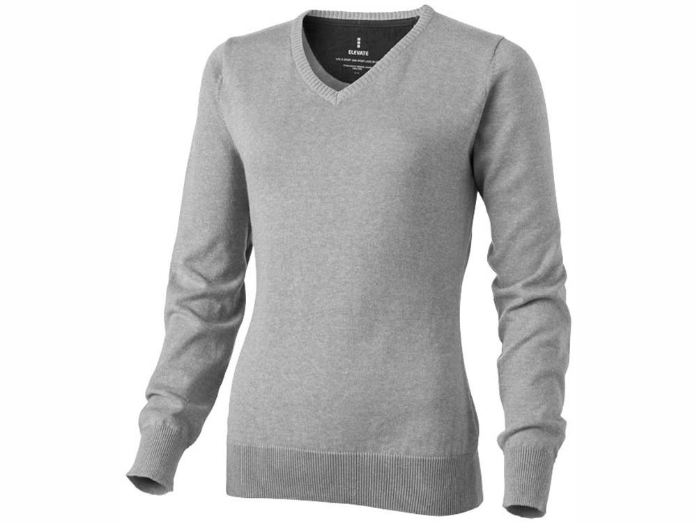 Пуловер Spruce женский с V-образным вырезом, серый меланж (артикул 3821896M)