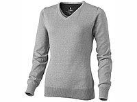 Пуловер Spruce женский с V-образным вырезом, серый меланж (артикул 3821896M), фото 1