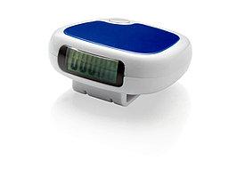 Трекинговый шагомер с экраном LCD Trackfast, белый/синий (артикул 10030301)